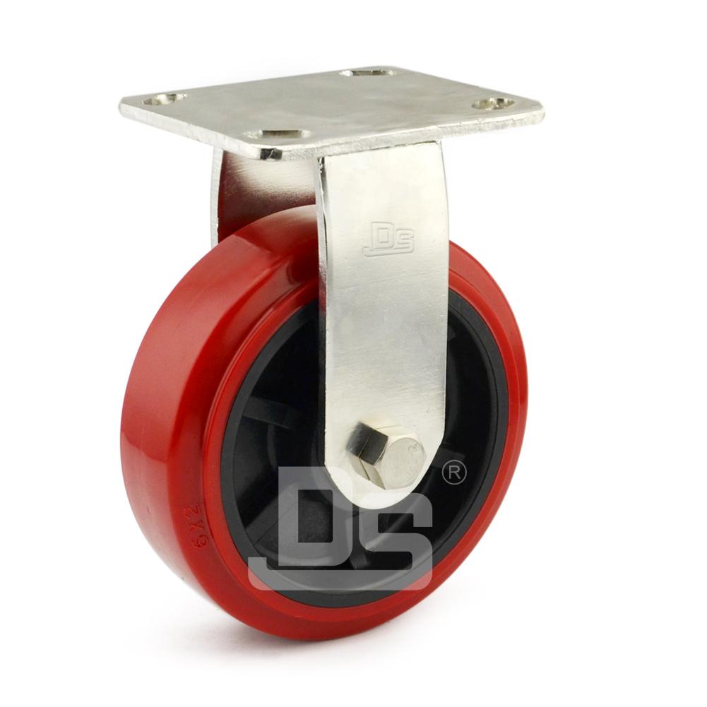 DS40系列 塑料芯PVC轮  重型 工业物流 不锈钢定向脚轮(载重量:160-200kg)