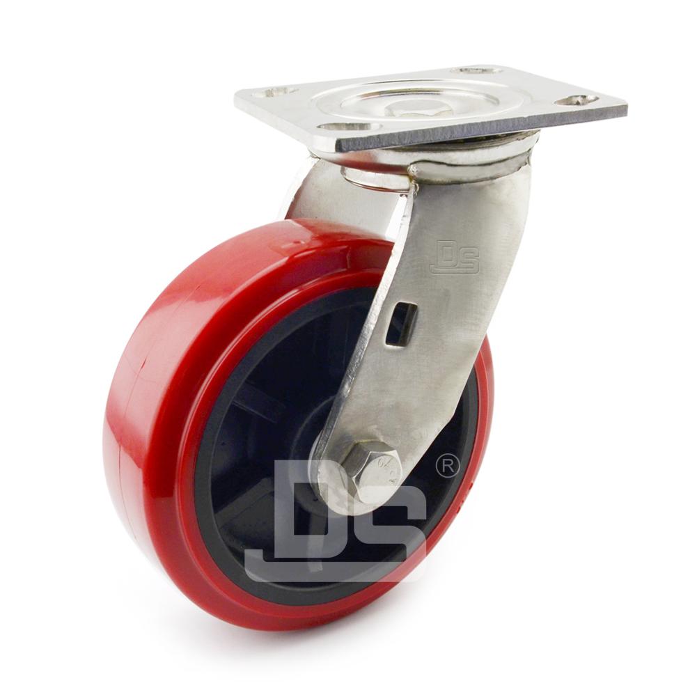 DS40系列 塑料芯PVC  重型 工业物流 不锈钢转向脚轮(载重量:160~200kg)