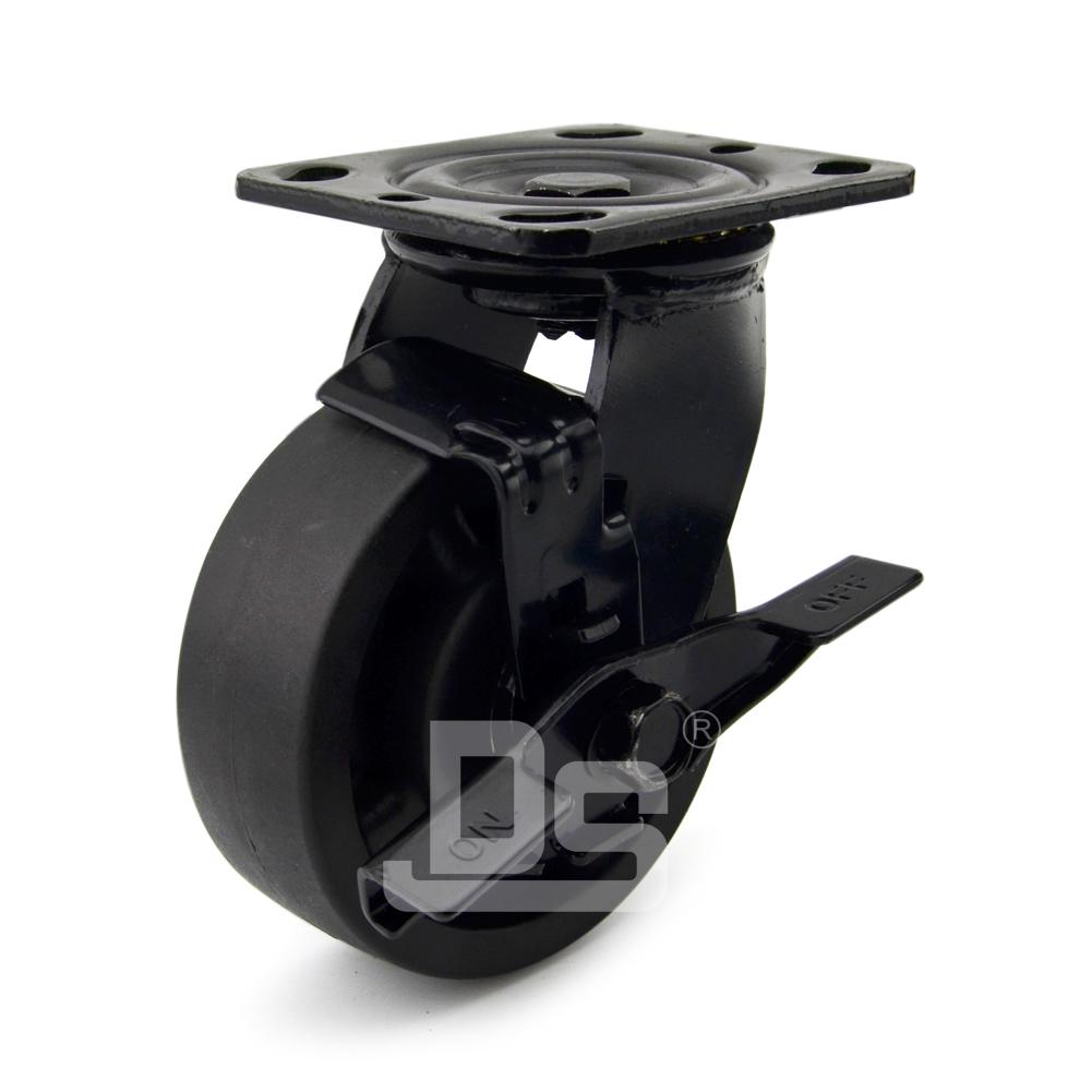 DS40系列 耐高温脚轮(230°)   重型  工业物流  边刹脚轮