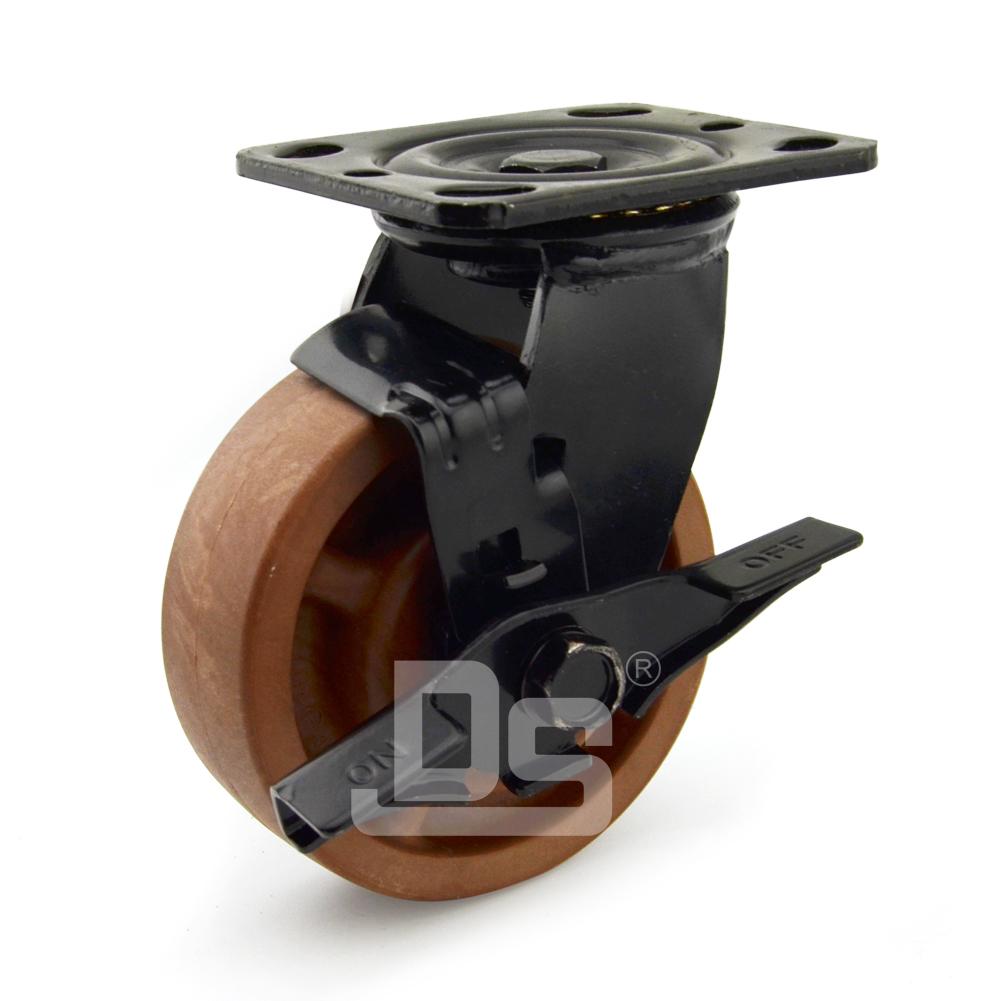 DS40系列 耐高温脚轮(280°)   重型  工业物流  边刹脚轮