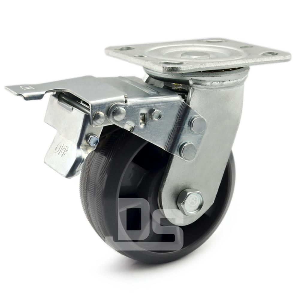 DS40系列  尼龙轮  重型 工业物流 双刹脚轮