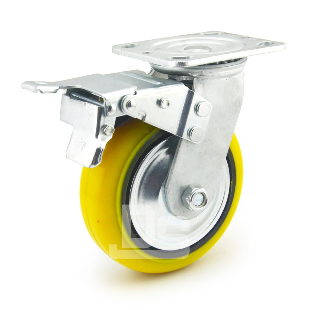 DS41系列 铁芯高载重聚氨酯 重型 工业物流 双刹脚轮(载重量:450~600kg)