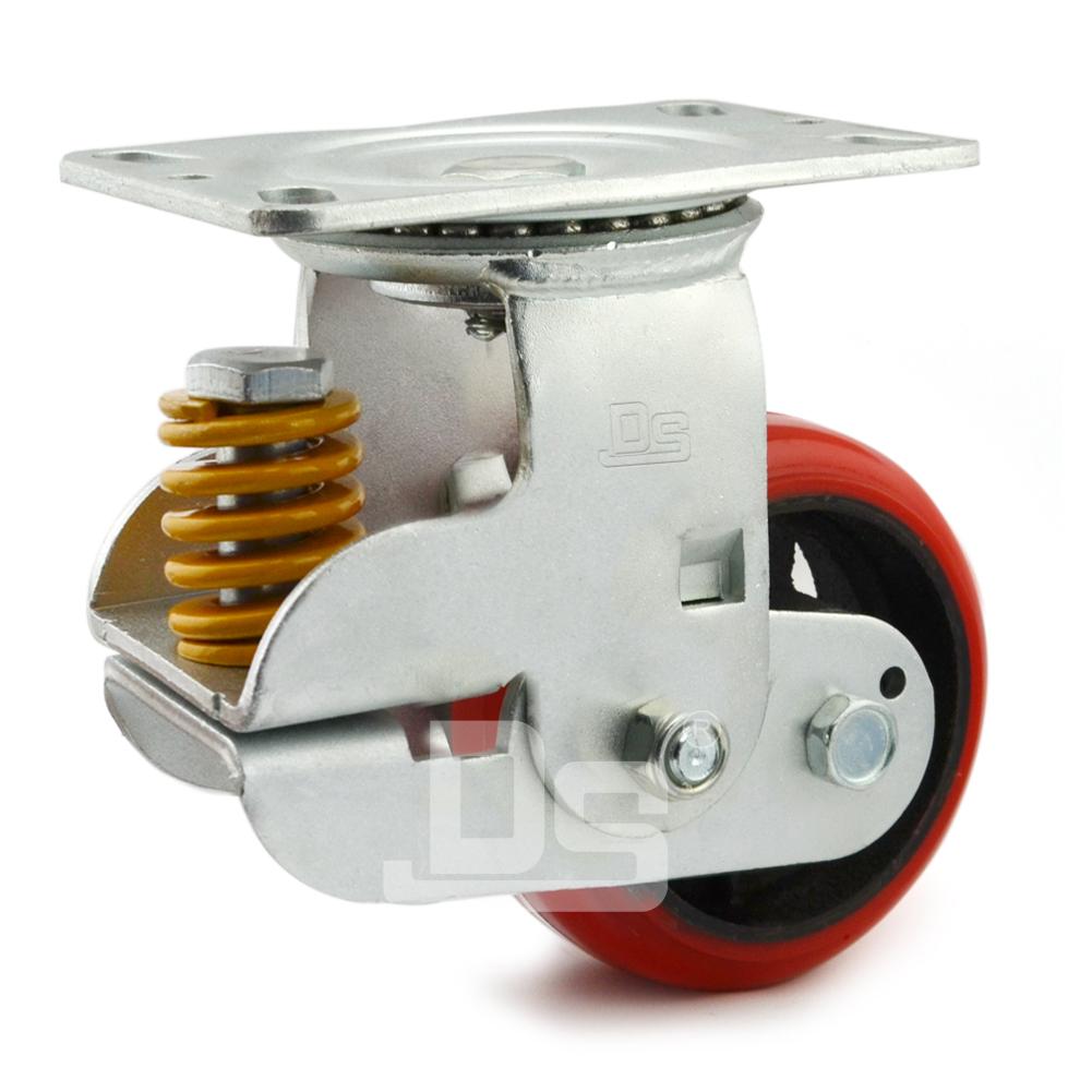 DS94系列  弹簧缓冲减震脚轮  (载重量:230~450kg)