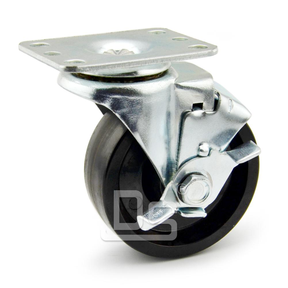 DS20系列 耐高温脚轮(150°)  轻型  边刹脚轮(载重量:115~140kg)