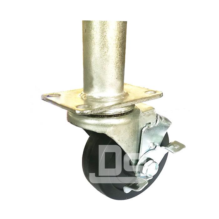 DS20系列 PP塑胶轮 HDP 焊管式 边刹脚轮(载重量:110~140kg)