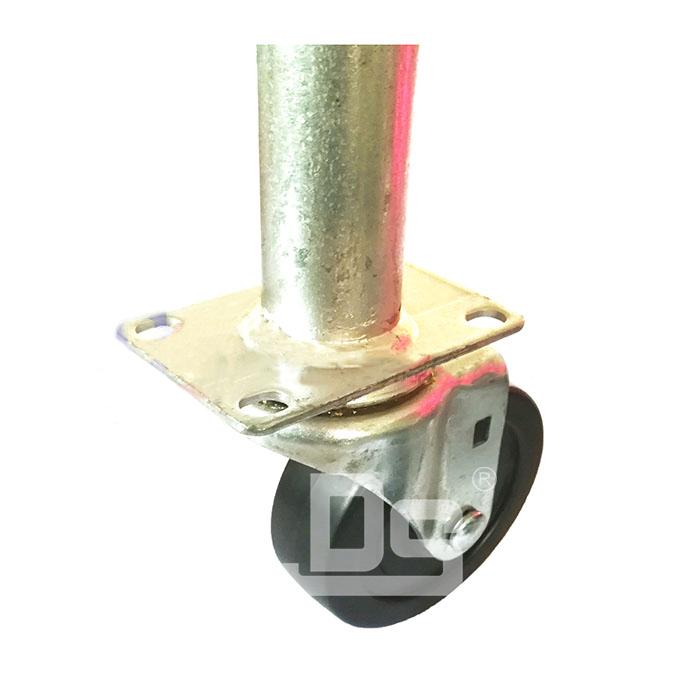 DS20系列 PP塑胶轮 HDP 焊管式 转向脚轮(载重量:110~140kg)